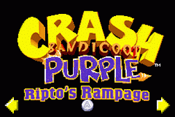 2 Games in 1 - Crash Bandicoot Purple - Ripto's Rampage + Spyro Orange - The Cortex Conspiracy