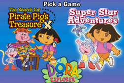 2 Games in 1 - Dora the Explorer - The Search for the Pirate Pig's Treasure + Dora the Explorer - Super Star Adventures!