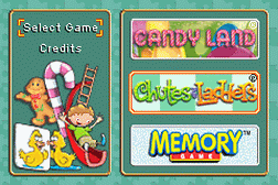 Candy Land, Chutes and Ladders, Memory Game