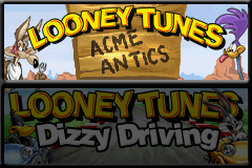 2 Games in 1 - Looney Tunes - Dizzy Driving + Looney Tunes - Acme Antics