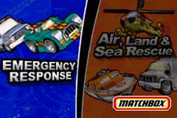 2 Games in 1 - Matchbox Emergency Response + Matchbox Air, Land & Sea Rescue
