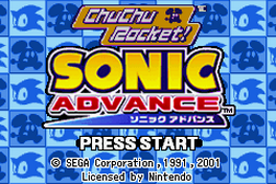2 Games in 1 - Sonic Advance + Chu Chu Rocket!