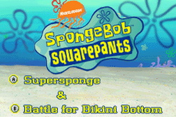 2 Games in 1 - SpongeBob SquarePants - SuperSponge + SpongeBob SquarePants - Battle for Bikini Bottom