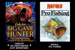 2 Games in 1 - Cabela's Big Game Hunter - 2005 Adventures + Rapala Pro Fishing