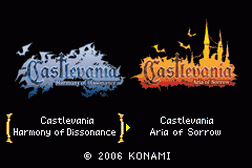 2 Games in 1 - Castlevania - Harmony of Dissonance + Castlevania - Aria of Sorrow
